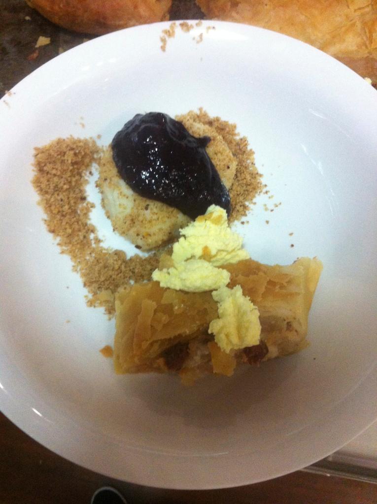 Apple strudel and sweet dumplings