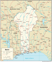 Benin - Courtesy of the CIA World Factbook