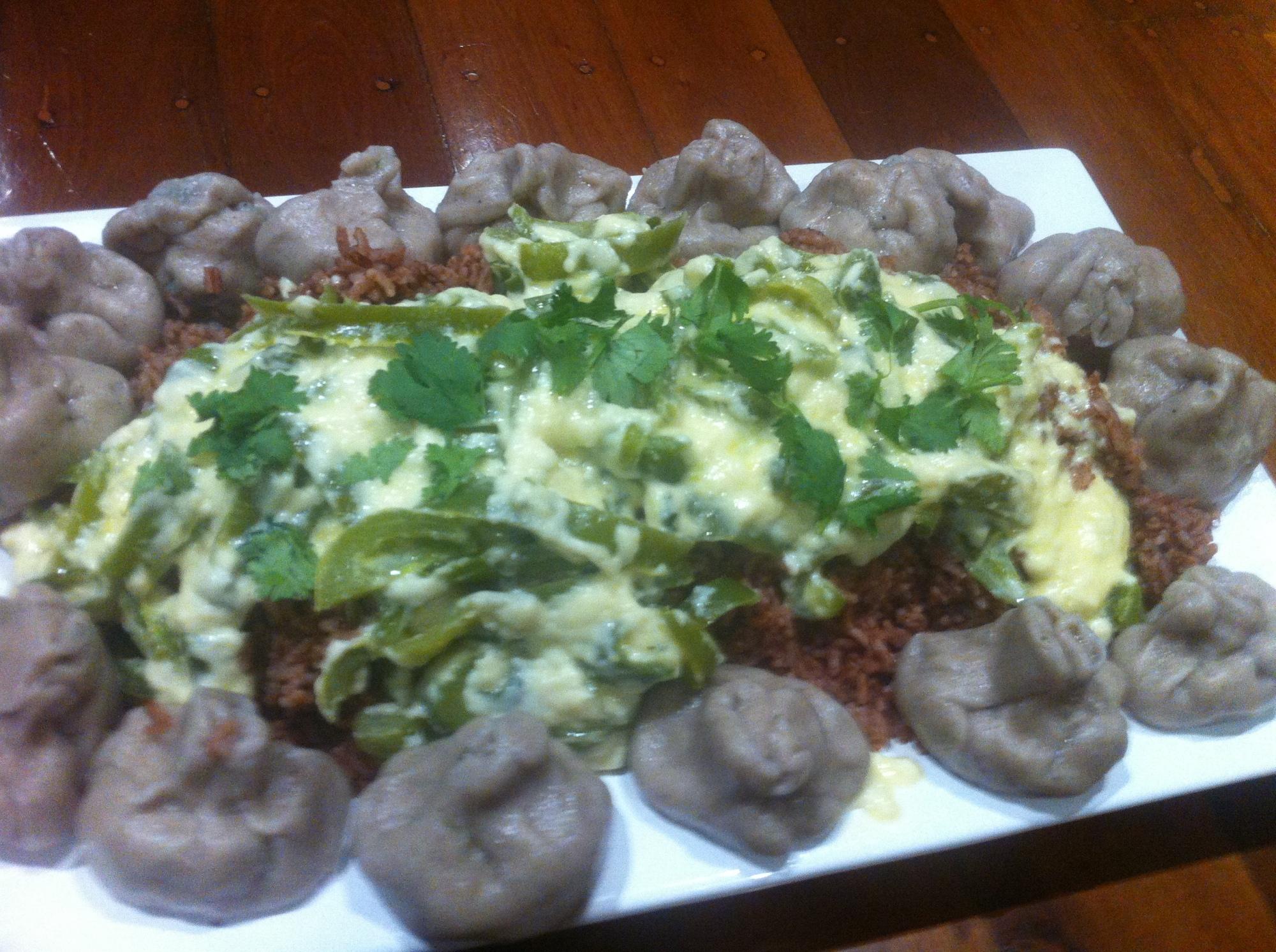 Buckwheat dumplings and Ema Datshi