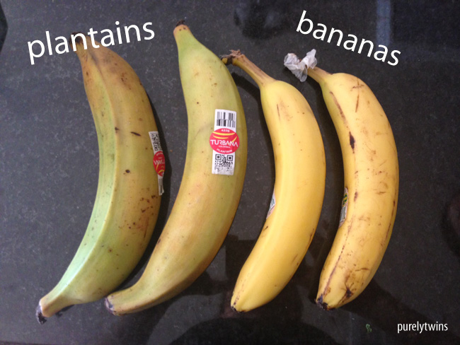 plantain vs banana - Purely Twins