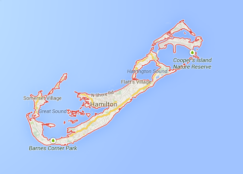 Map of Bermuda - Google Maps